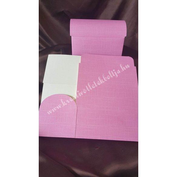 Papírdoboz ,175x110x95mm,rózsaszín