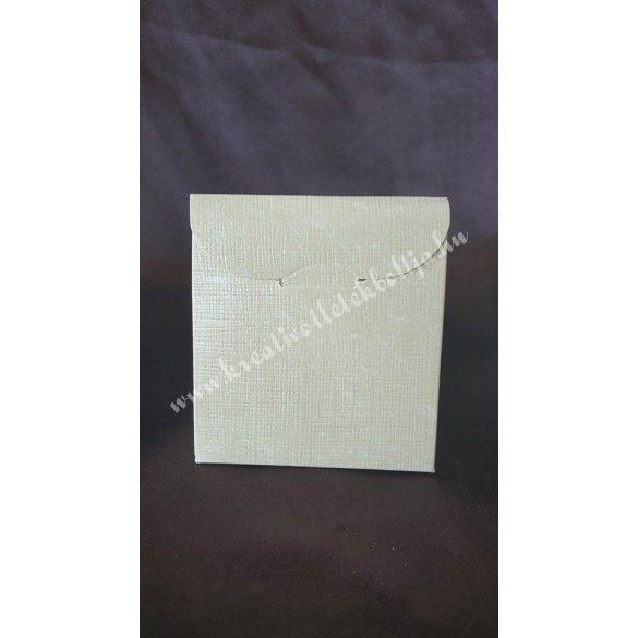 Papírdoboz, 70x35x80 mm, homok