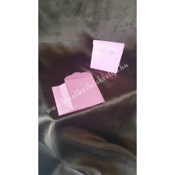 Papírdoboz, 70x35x80 mm, rózsaszín