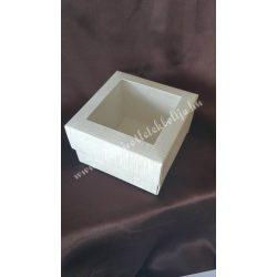 Papírdoboz ,80x80x60 mm, törtfehér