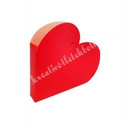 Papírdoboz szív,85x20 mm, piros