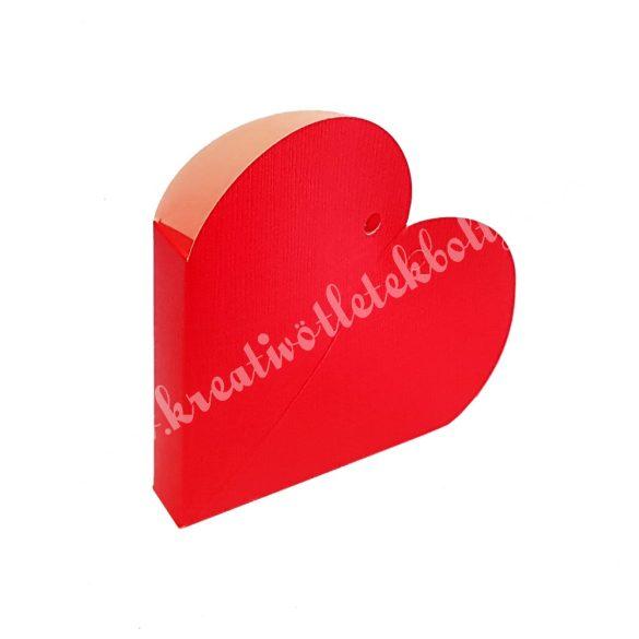 Papírdoboz szív, 85x20 mm, piros