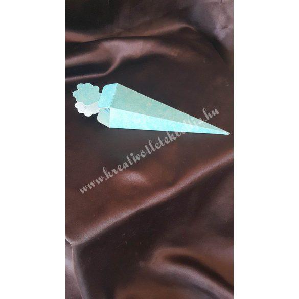 Papírdoboz tölcsér, 150 mm, türkiz