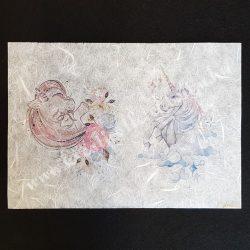 Pasztell unikornisos rizspapír (A4)