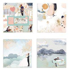 Scrapbook papír, Love story, 22 lapos, 30,5x30,5 cm