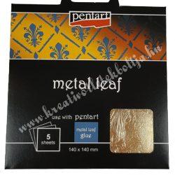 Pentart füstfólia, arany1, 14x14 cm, 5 lap/csomag