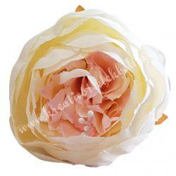 Peonia fej, ekrü rózsaszín középpel, 10 cm