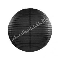 Lampion, fekete, 20 cm
