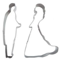 Rozsdamentes kiszúró, esküvői pár, 8 cm