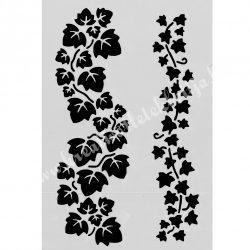 Stencil 275., levélgirlandok, 17,5x25 cm