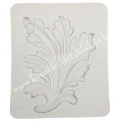 Szilikon mintázó, akantuszlevél, 9,5x11 cm