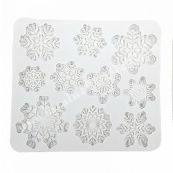 Szilikon mintázó, 10 hópehely