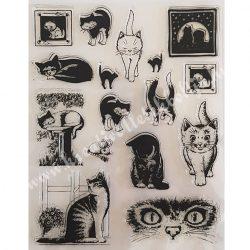 Szilikon pecsételő Macskák 14x18 cm