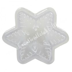 Gyertyaöntő forma, műanyag, hópehely, 8x3 cm