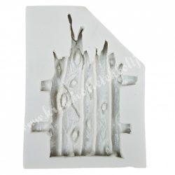 Szilikon öntőforma, fatörzs ajtó, 6x8,5 cm