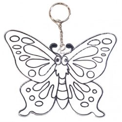 Festhető forma matricafestékhez, (kulcstartó), pillangó, 12,5x10 cm