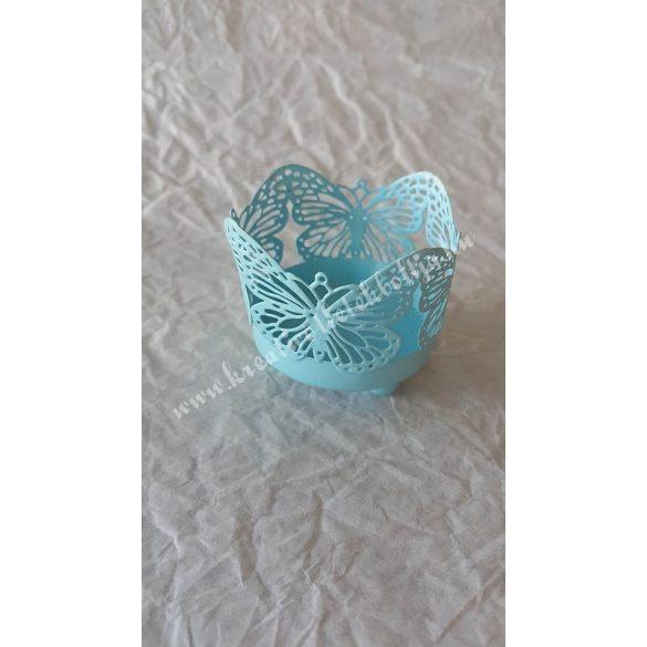 Pillangós mécsestartó, kék