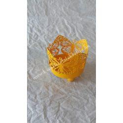 Pillangós mécsestartó, narancs sárga