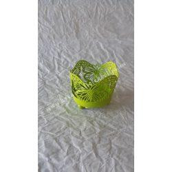 Pillangós mécsestartó, zöld