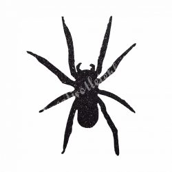 Csillámos dekorgumi pók