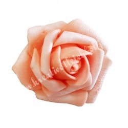 Polifoam rózsa, 6x5 cm, Barack