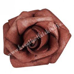 Polifoam rózsa, 3,5x2,5 cm, 28., Barna