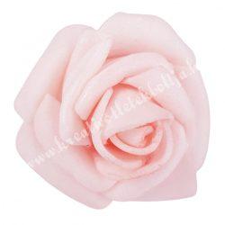 Polifoam rózsa, 3,5x2,5 cm, 29., Babarózsaszín
