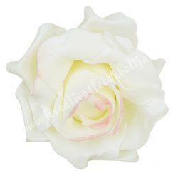 Polifoam rózsa, 6x5 cm, 31., Krém-rózsaszín középpel