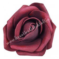 Polifoam rózsa, burgundi, 6x5 cm