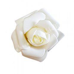 Polifoam rózsa, 4x3 cm, 1. Krém