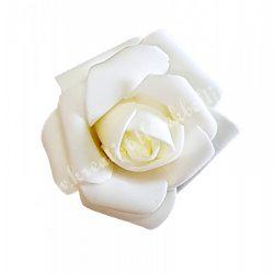 Polifoam rózsa, 6x5 cm, Krém
