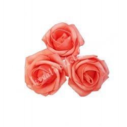 Polifoam rózsa, 4x3 cm, 12. Lazac