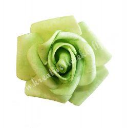 Polifoam rózsa, 4x3 cm, 4. zöld
