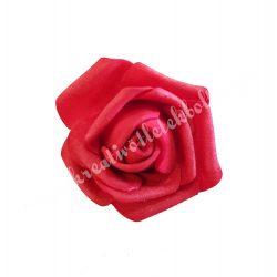 Polifoam rózsa, 4x3 cm, 7. Piros