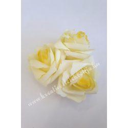 Polifoam rózsa, 6x5 cm, 13. Citromsárga