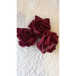 Polifoam rózsa, 6x5 cm, 19. Burgundi
