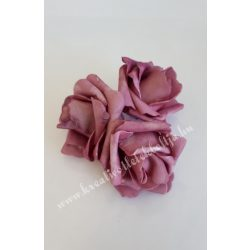 Polifoam rózsa, 6x5 cm, 2. Mályva