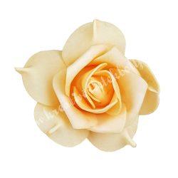 Polifoam rózsa, 6x5 cm, 23.  Barack
