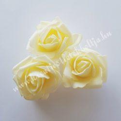 Polifoam rózsa, közepes, 27. Krém