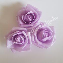 Polifoam rózsa, közepes, 28. Világoslila