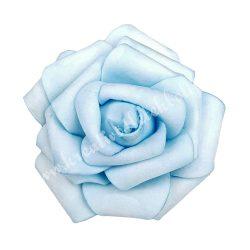 Polifoam rózsa, 6x5 cm, 29., világoskék