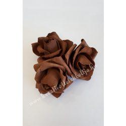 Polifoam rózsa, 6x5 cm, 3. Sötétbarna