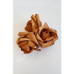 Polifoam rózsa, 6x5 cm, 4. Világosbarna