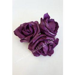 Polifoam rózsa, 6x5 cm, 7. Sötétlila