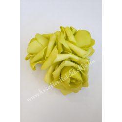 Polifoam rózsa, közepes, 9. Világoszöld