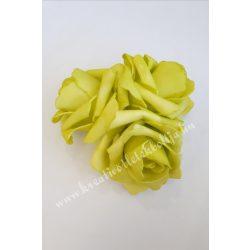 Polifoam rózsa, 6x5 cm, 9. Világoszöld