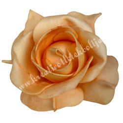 Polifoam rózsa, 9x6 cm, 12. Barack