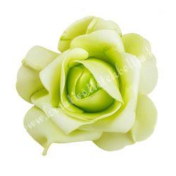 Polifoam rózsa, 9x6 cm, 3. Világoszöld