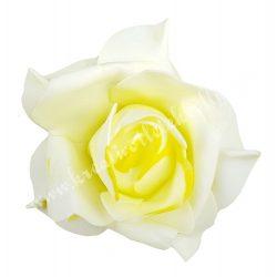 Polifoam rózsa, 9x6 cm, 8. Citromsárga