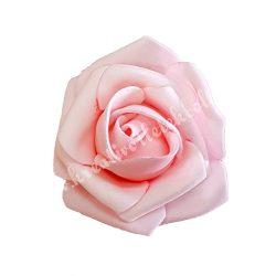 Polifoam rózsa, 6x5 cm, púder rózsaszín